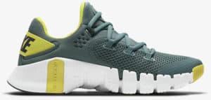 Nike Free Metcon 4 Hasta White Bright Citron Dark Smoke Grey right side view