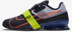Nike Romaleos 4 Blackened Blue-Deep Royal Blue-Cyber-Bright Mango side view left