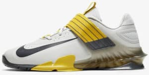 Nike Savaleos Grey Fog-Dark Smoke Grey-Bright Citron-Dark Smoke Grey left side view