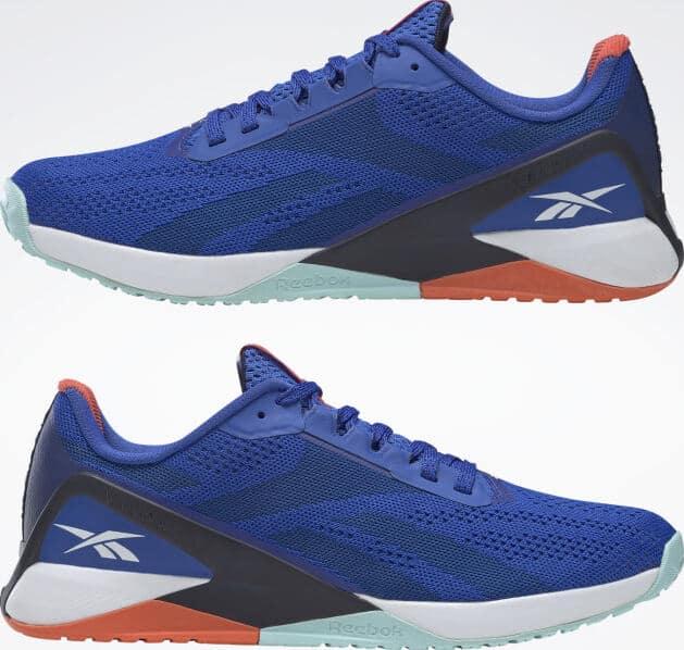 Reebok Nano X1 Men Court Blue pair upside down