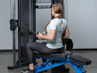 Rep Fitness REP FT-3000 Compact Functional Trainer with a user 4