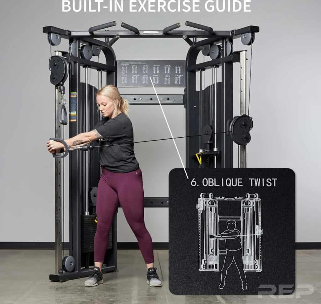 Rep Fitness REP FT-5000 Functional Trainer built in exercise guide