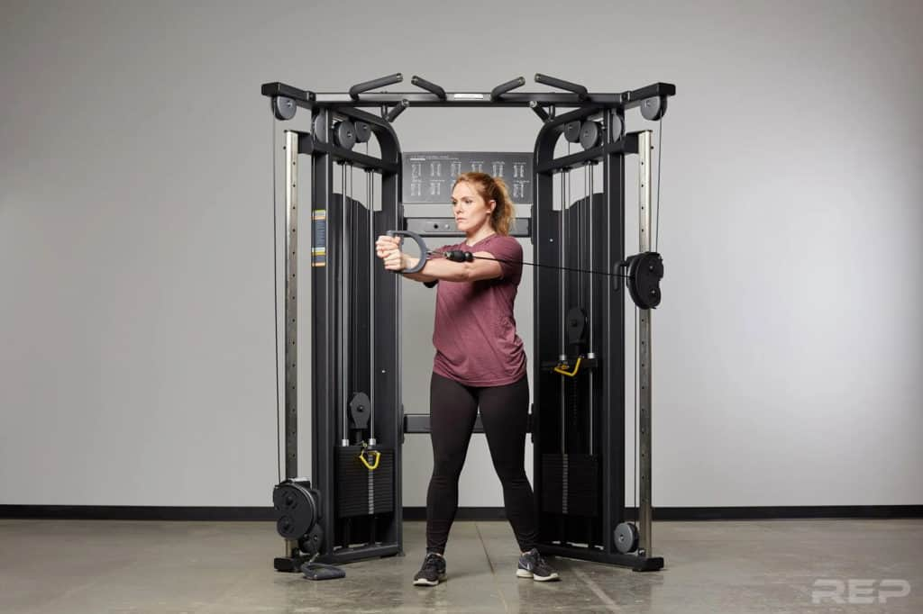 Rep Fitness REP FT-5000 Functional Trainer with a user 4