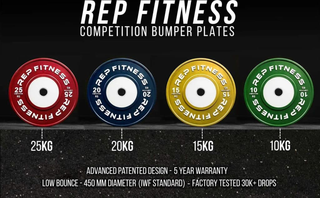 Rep Fitness Rep Competition Bumper Plates (KG) specs