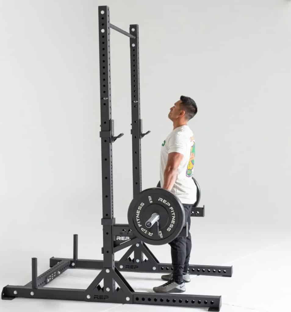Rep Fitness SR- 4000 Squat Rack side view