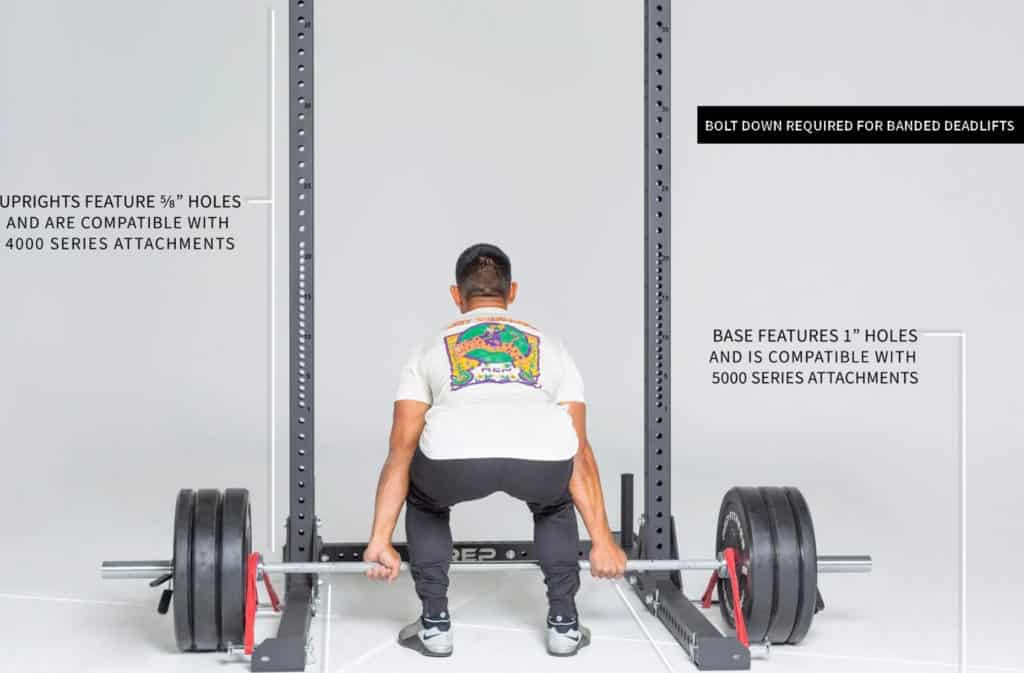 Rep Fitness SR- 4000 Squat Rack with attachments