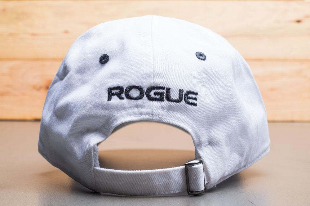 Rogue Barbell Dad Hat white back