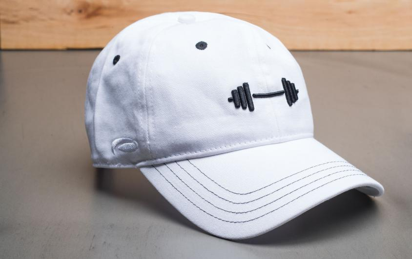Rogue Barbell Dad Hat white front