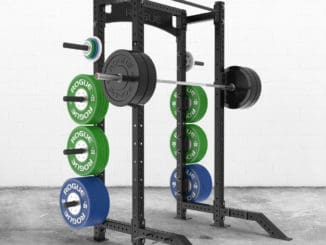 Rogue Monster Lite Half Rack with weights