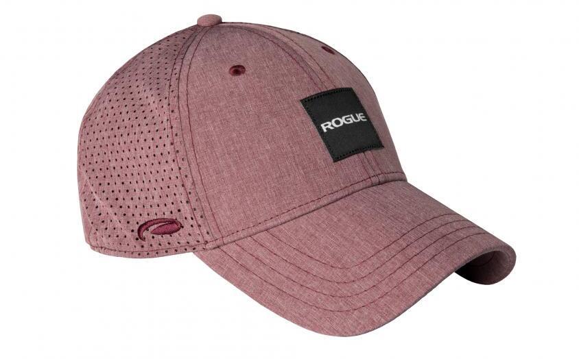Rogue Tri Tech Label Hat maroon heather