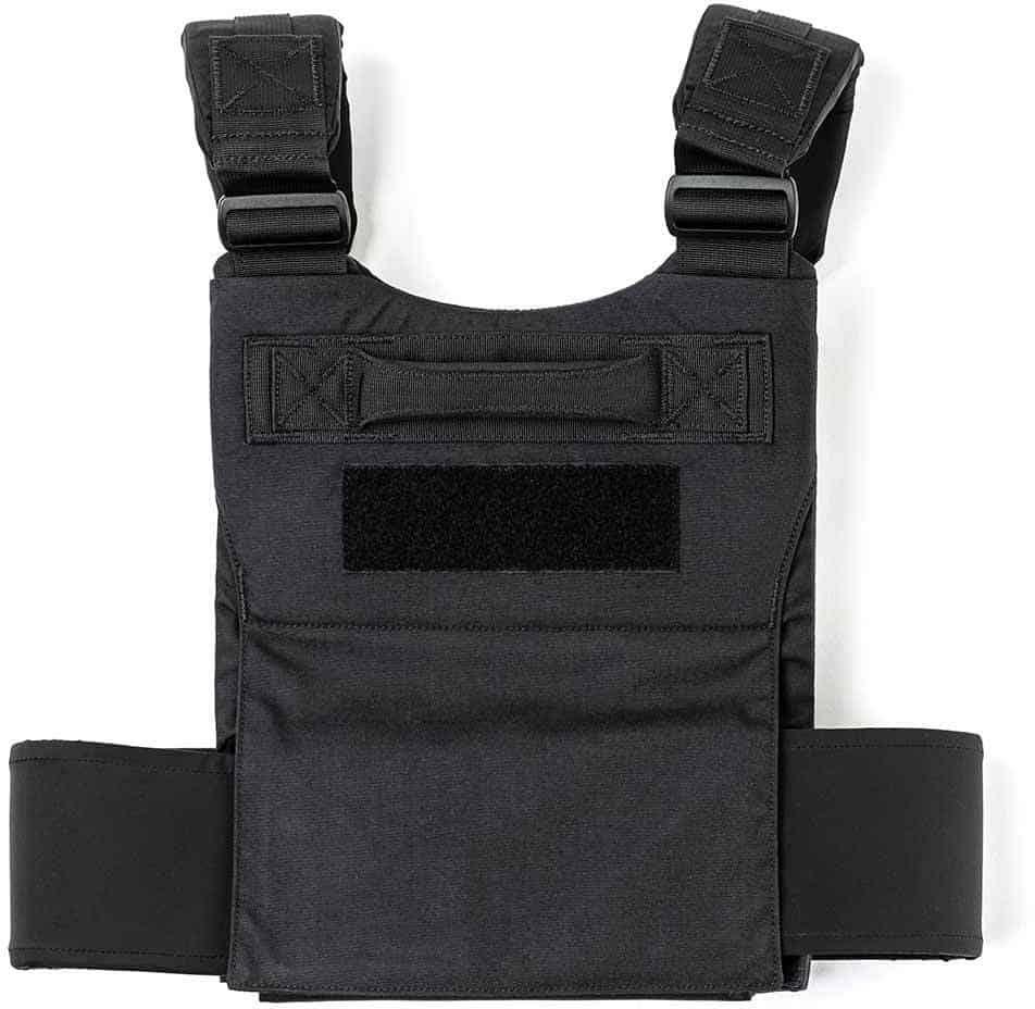 GORUCK Training Weight Vest black back view