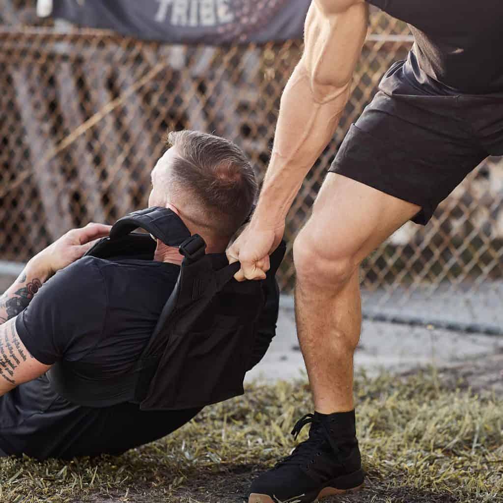GORUCK Training Weight Vest black handle drag