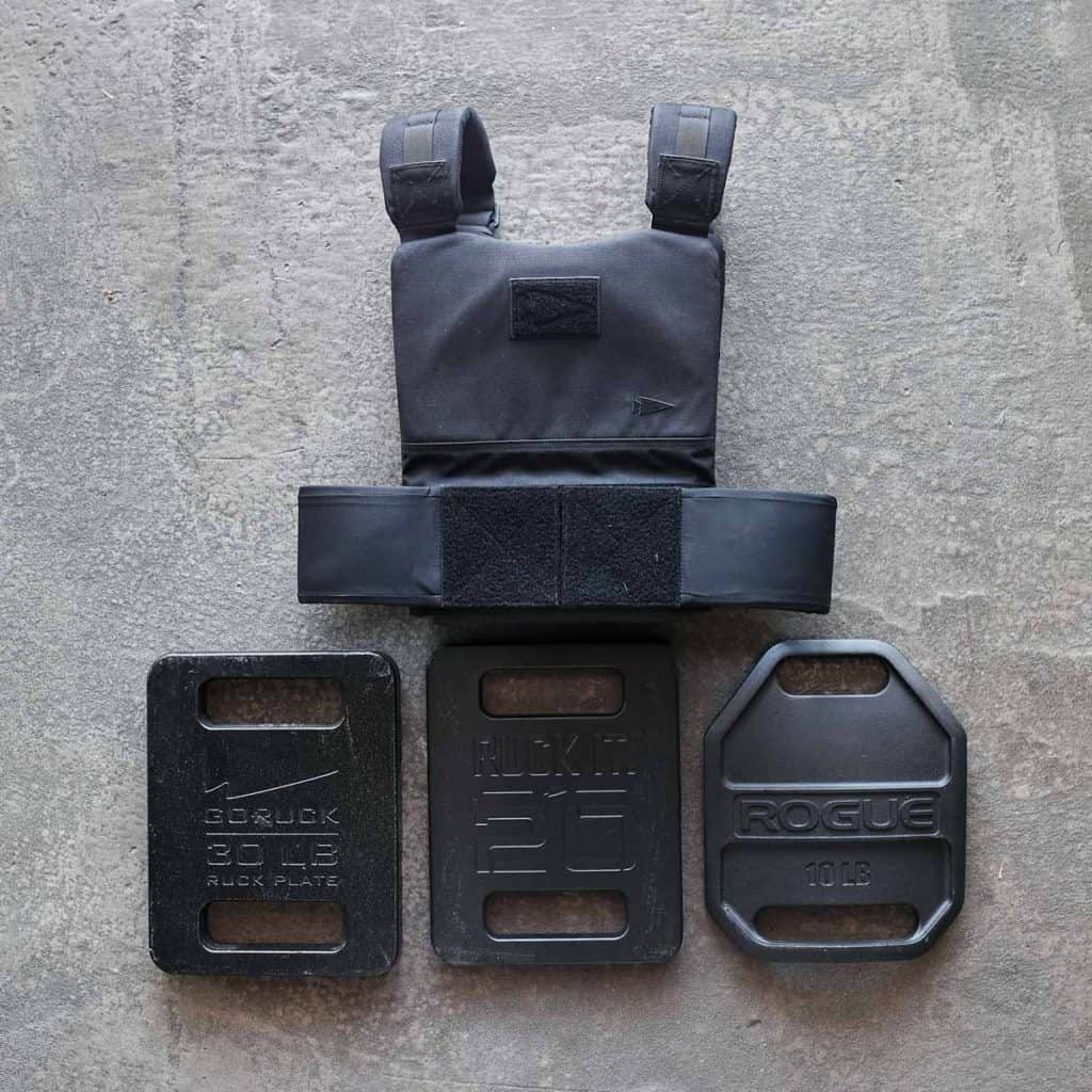 GORUCK Training Weight Vest black plates