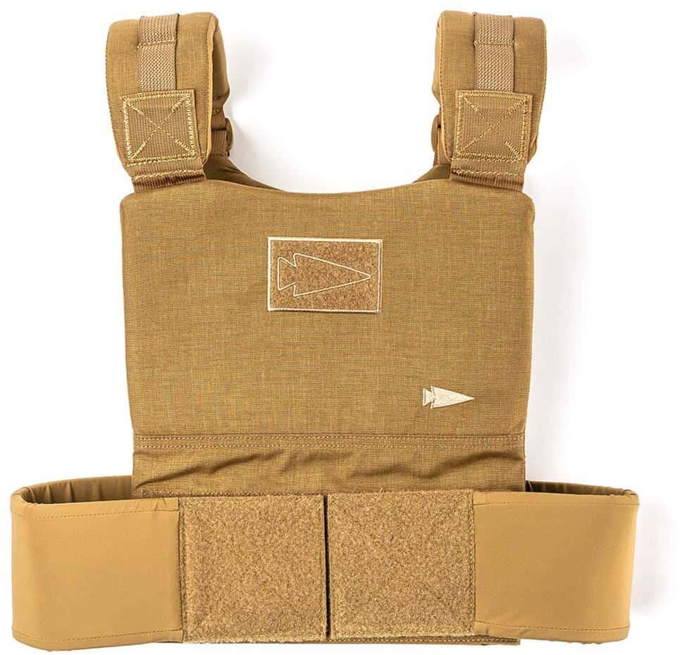 GORUCK Training Weight Vest coyote brown front