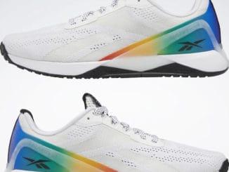 Reebok Nano XI Pride Training Shoes pair upside down