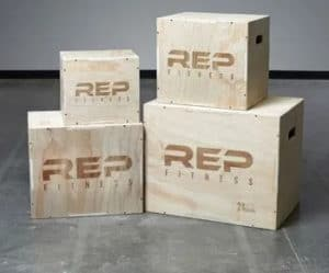 Rep Fitness 3-in-1 Wood Plyo Boxes four boxes