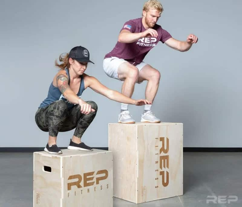 Rep Fitness 3-in-1 Wood Plyo Boxes jump box