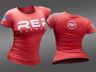 Rep Fitness Basic Womens Tee red