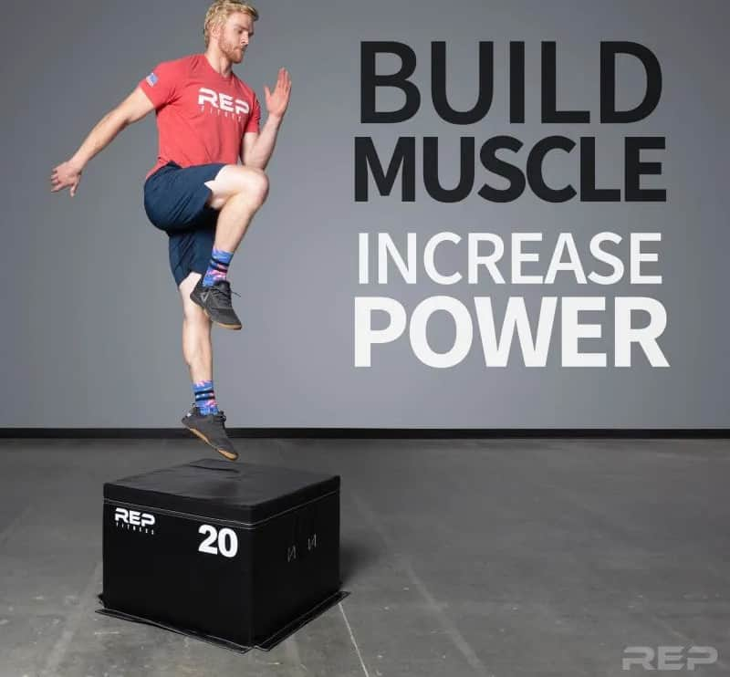 Rep Fitness Soft Foam Plyo Box with an athlete