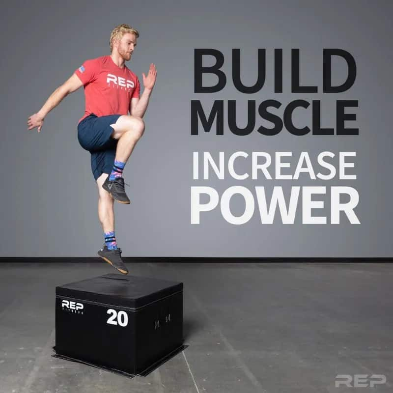 Rep Fitness Soft Foam Plyo Box with a athlete