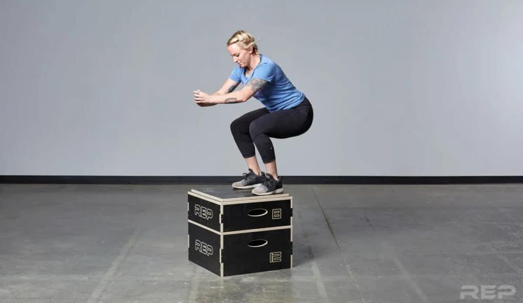 Rep Fitness Stackable Wood Plyos jump box