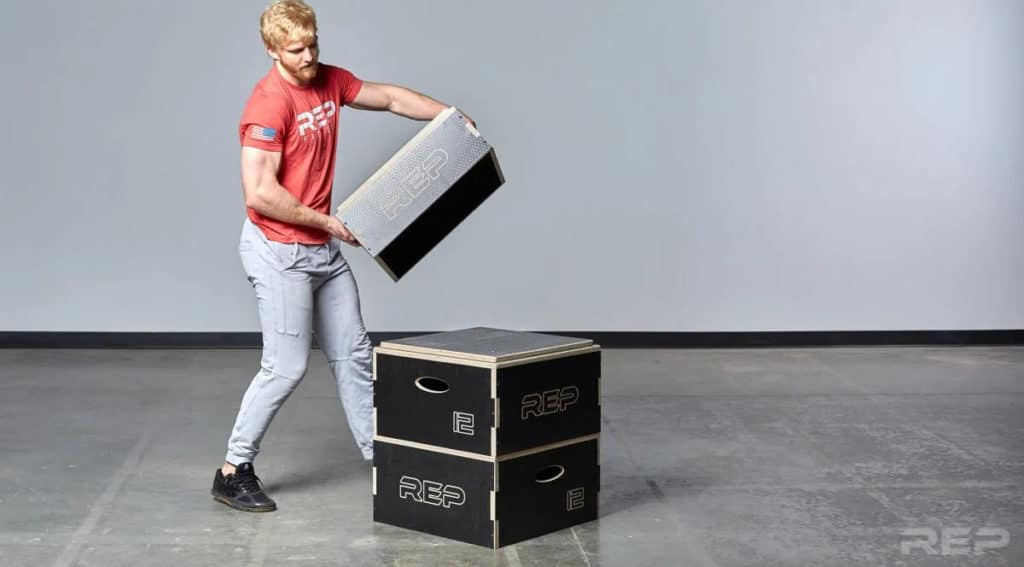 Rep Fitness Stackable Wood Plyos piling up