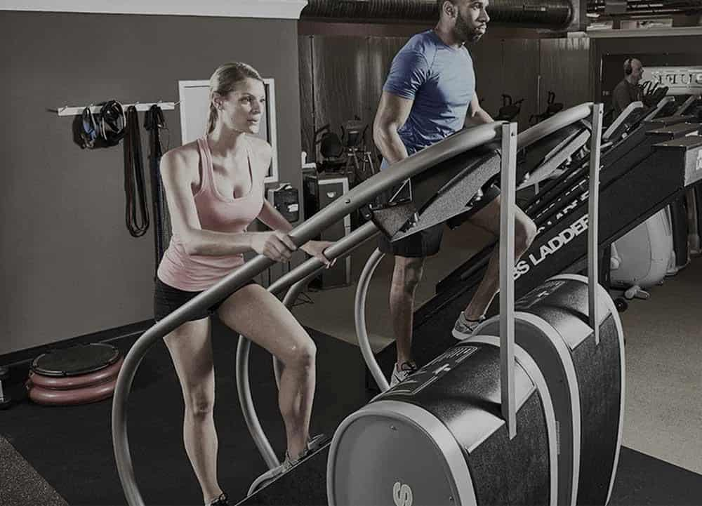Rogue Fitness Jacobs Ladder - The Stairway GTL with users
