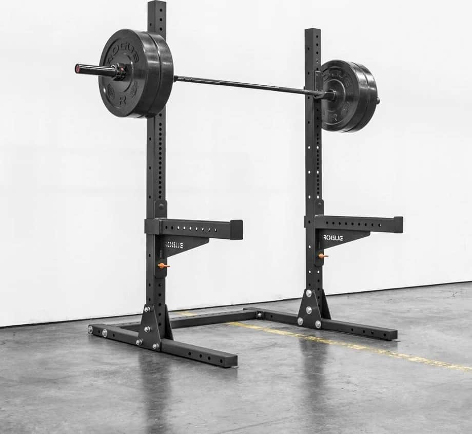 Rogue SML-1 Rogue 70 Monster Lite Squad Stand with barbell