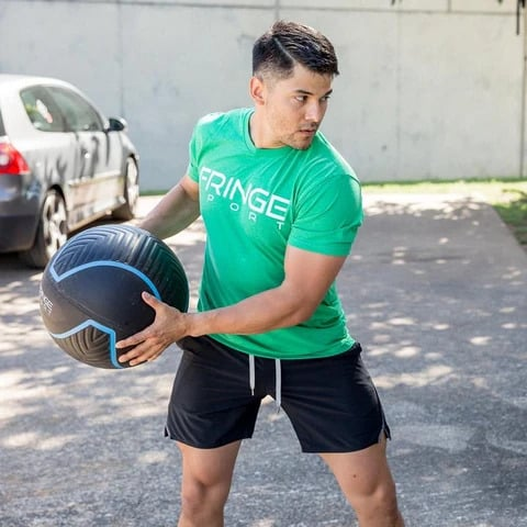 Fringe Sport Immortal Wall Ball with a user