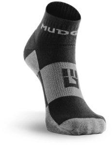 MudGear 1 4 Crew Socks - Black Gray main