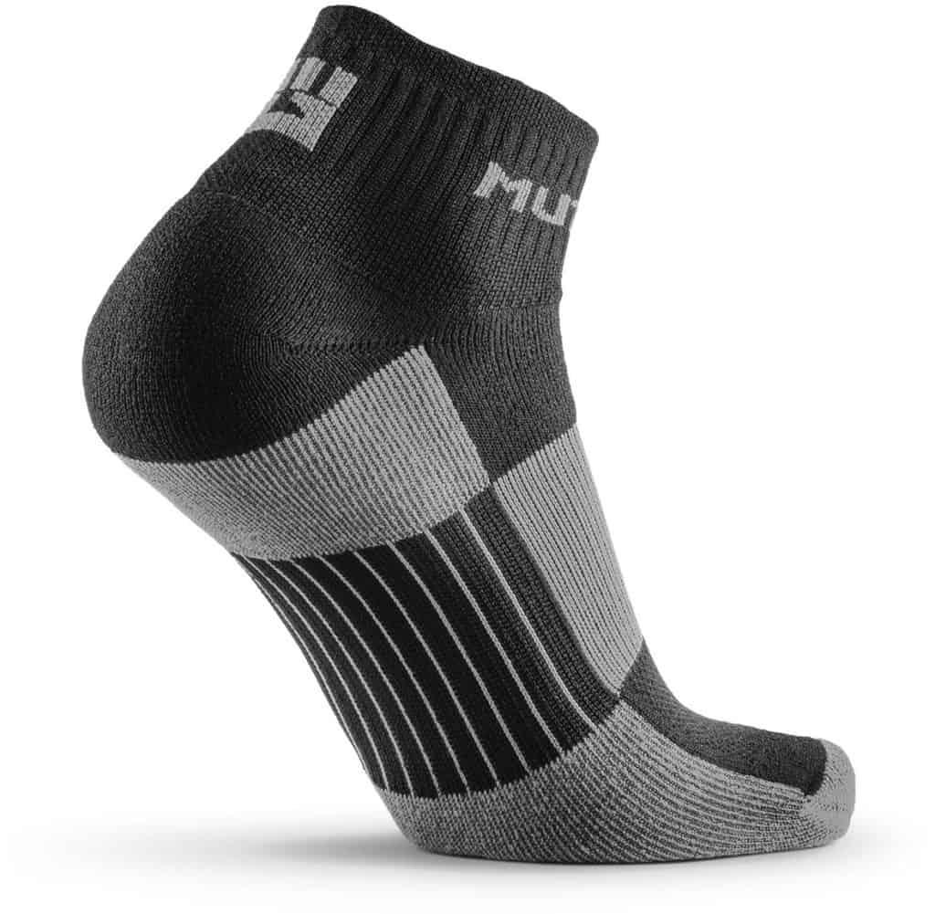 MudGear 1 4 Crew Socks - Black Gray quarter right back