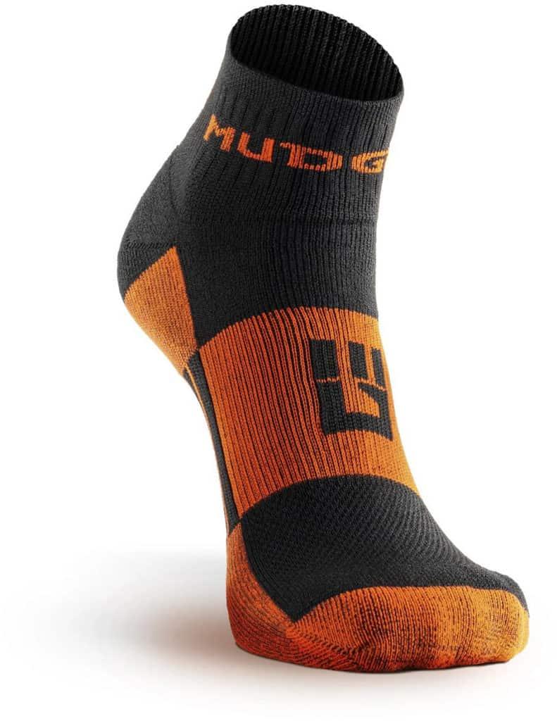 MudGear 1 4 Crew Socks - Black Orange front