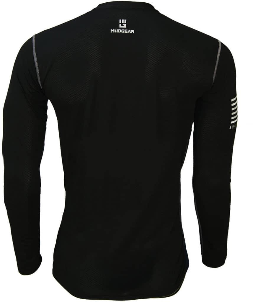 MudGear Mens Fitted Performance Shirt - Long Sleeve (Black) back