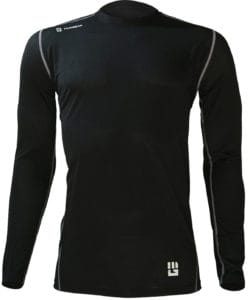 MudGear Mens Fitted Performance Shirt - Long Sleeve (Black) front
