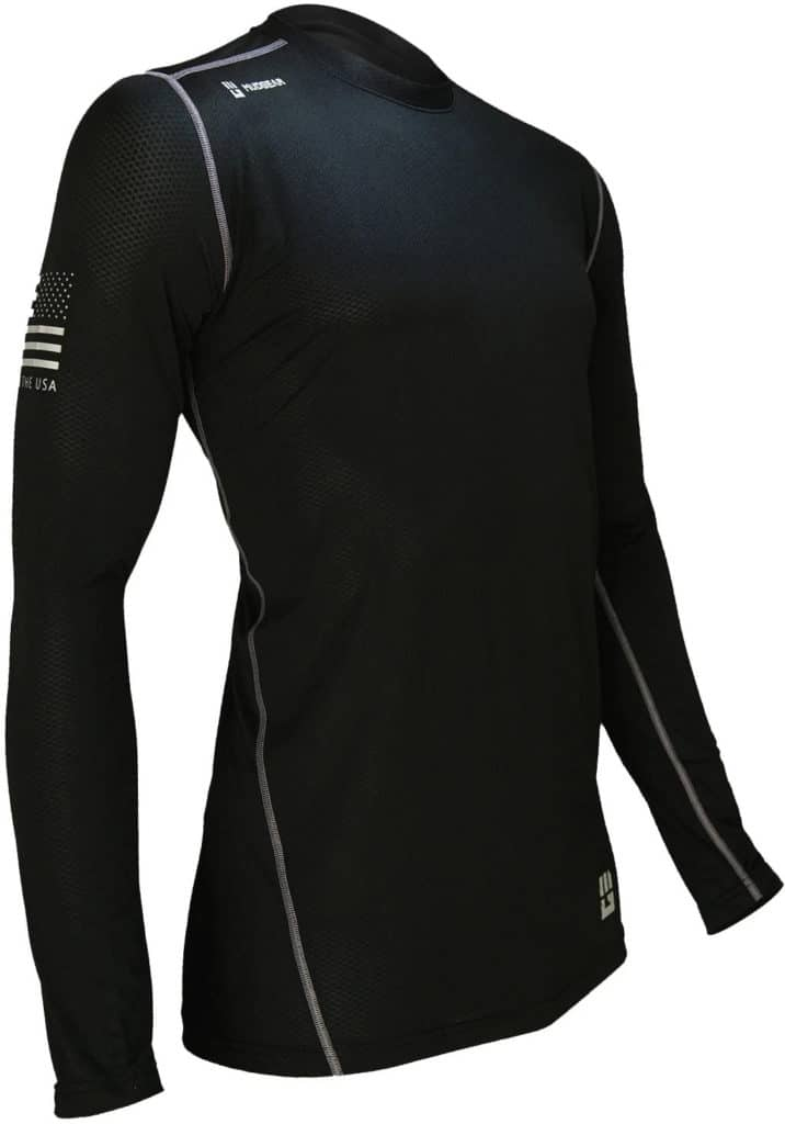 MudGear Mens Fitted Performance Shirt - Long Sleeve (Black) main