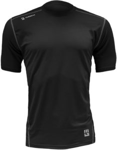 MudGear Mens Fitted Performance Shirt - Short Sleeve (Black) front