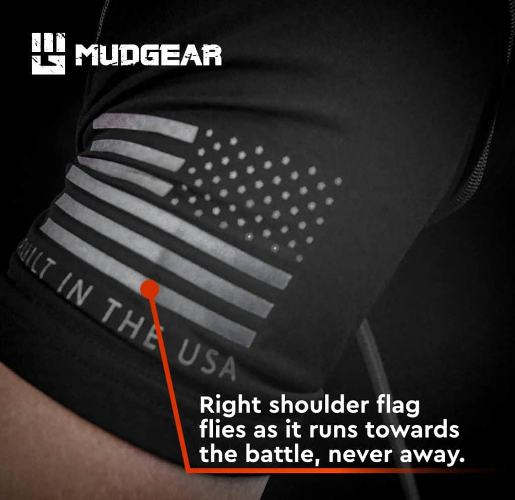 MudGear Mens Fitted Performance Shirt - Short Sleeve (Black) lower part