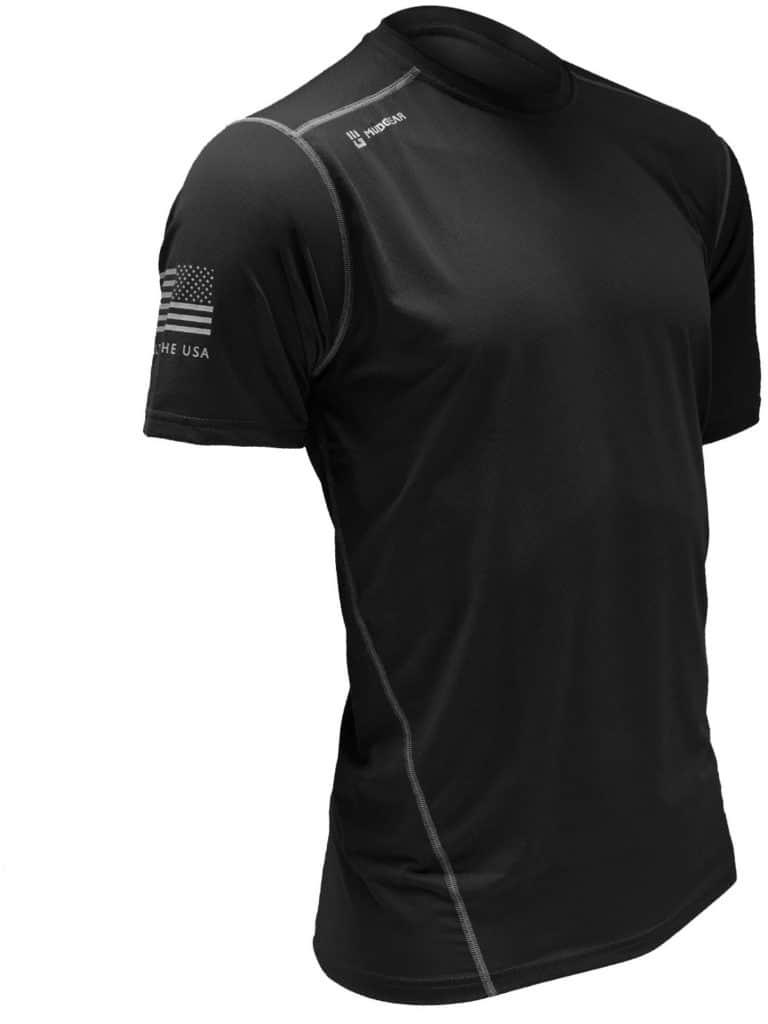 MudGear Mens Fitted Performance Shirt - Short Sleeve (Black) main