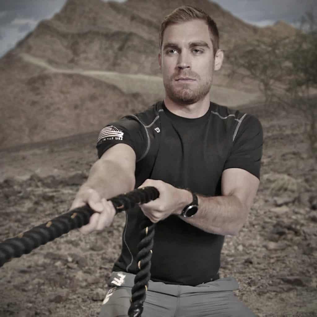 MudGear Mens Fitted Performance Shirt - Short Sleeve (Black) roping