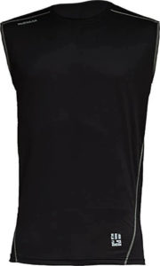 MudGear Mens Fitted Performance Shirt - Sleeveless (Black) front