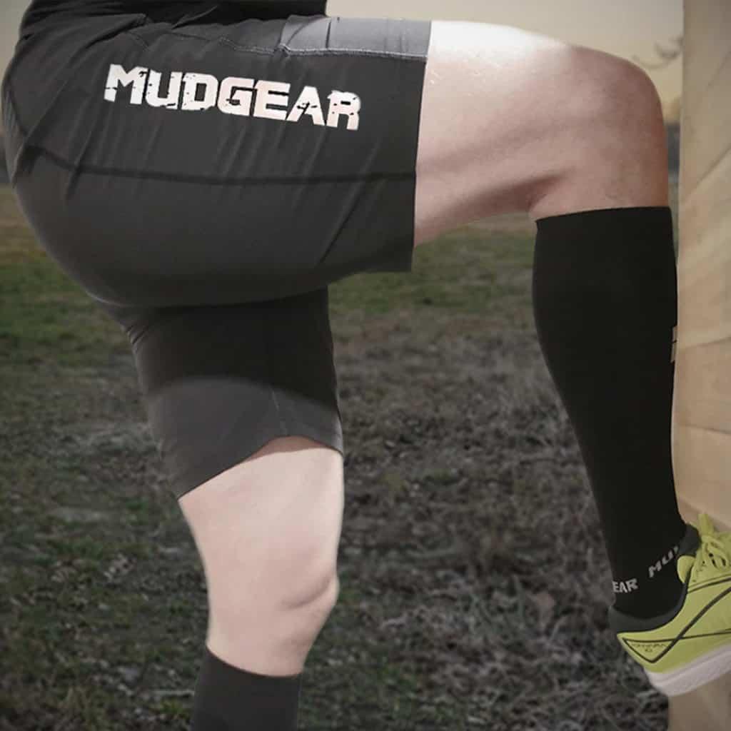 MudGear Mens Freestyle Running Shorts (Black) climbing 1