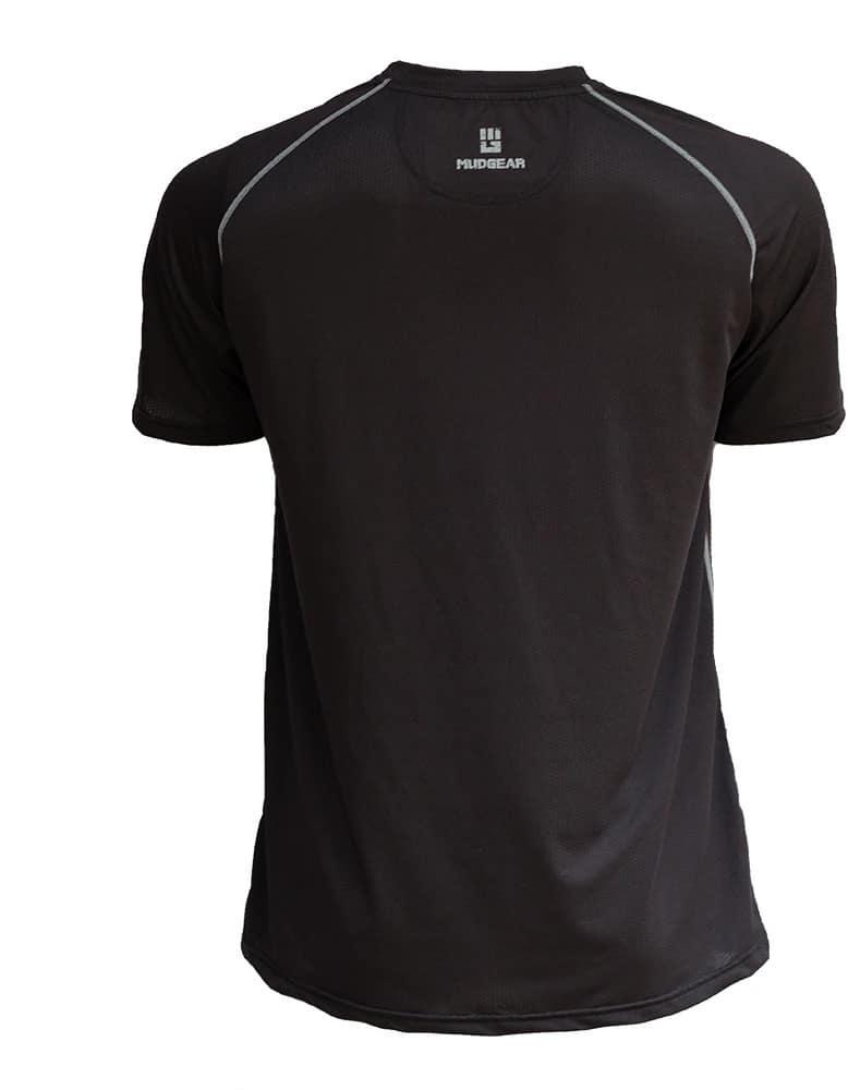 MudGear Mens Loose Tech Tee - Short Sleeve (Black) back