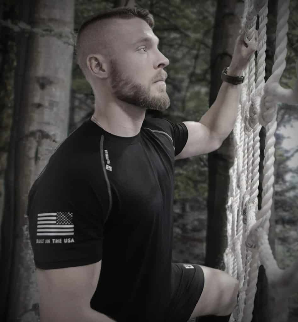 MudGear Mens Loose Tech Tee - Short Sleeve (Black) climbing