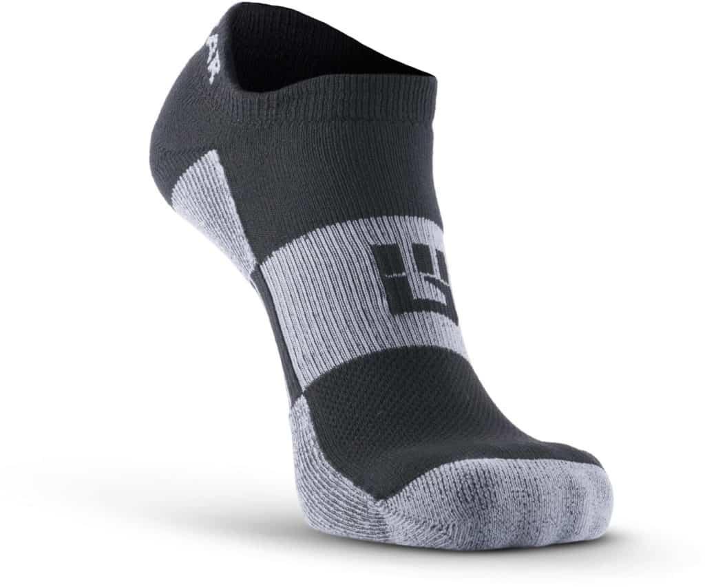 MudGear No-Show Running Socks - Black Gray main