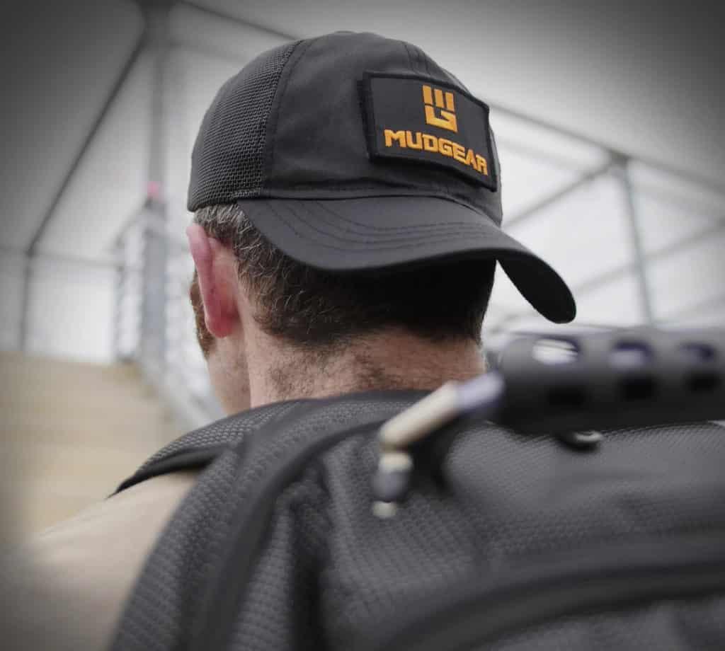 MudGear Tac Hat worn backwards