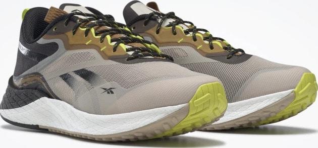Reebok Floatride Enery 3 Adventure Mens Running Shoes Stucco  Black  Sepia quarter view pair