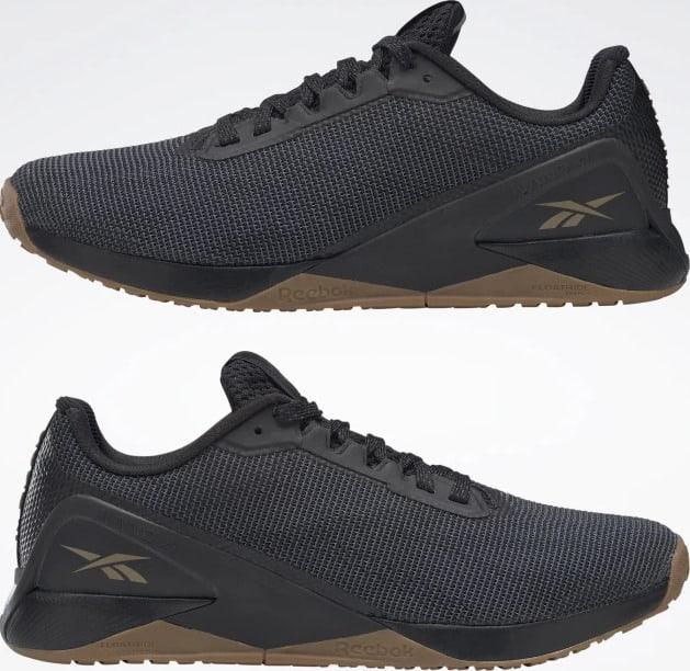 Reebok Nano X1 Grit Mens Training Shoes pair upside down