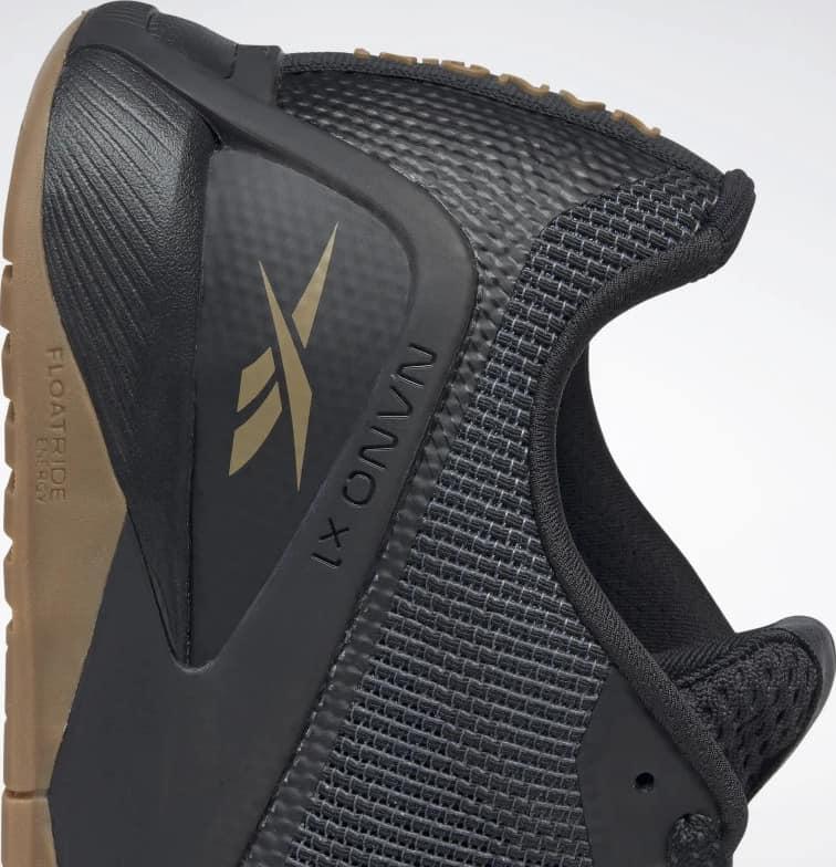 Reebok Nano X1 Grit Mens Training Shoes side heel close up