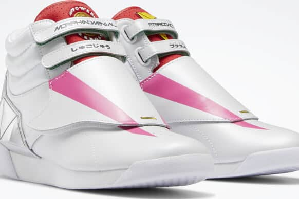 Reebok Power Rangers F S Hi Womens Shoes pair quarter view right