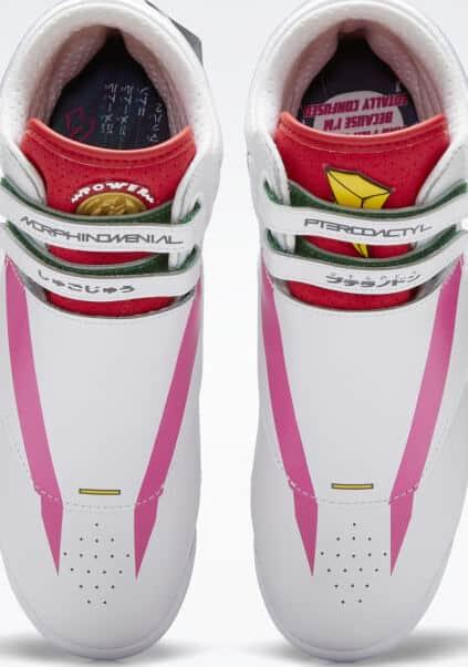 Reebok Power Rangers F S Hi Womens Shoes top view pair
